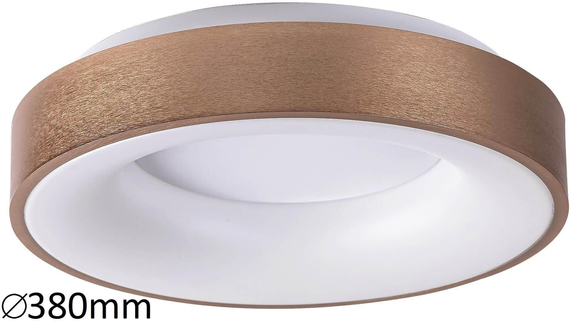 Plafoniera LED Rabalux Carmella, 30W, alb-auriu