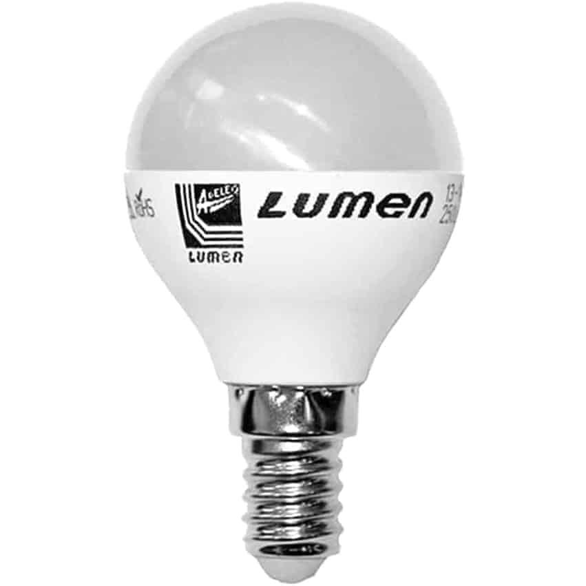 Bec LED Lumen E14, sferic, 6W, 3000K