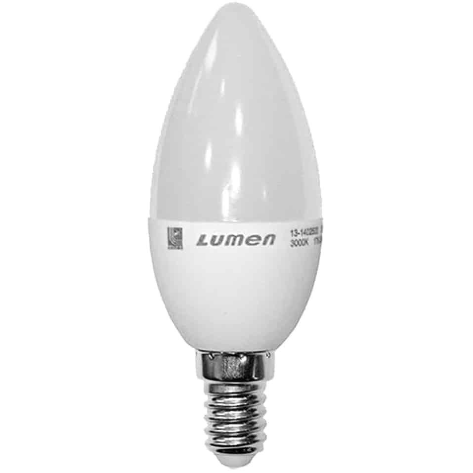Bec LED Lumen E14, lumanare, 7W, 3000K
