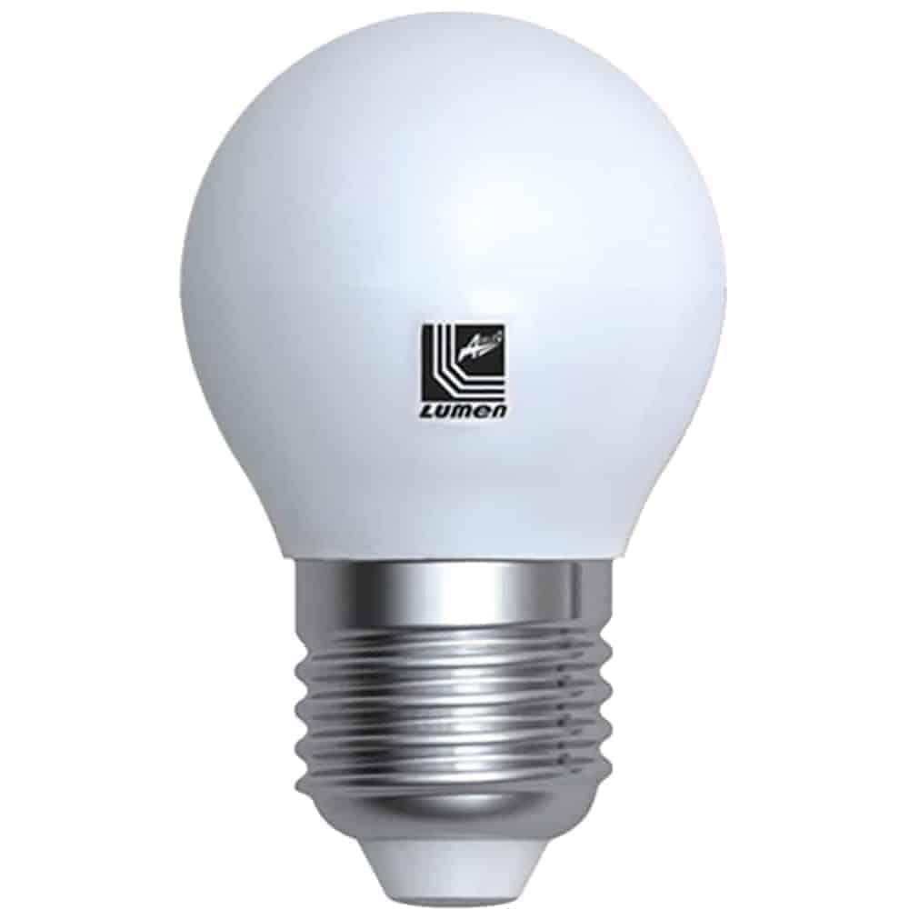 Bec LED Lumen E27, sferic, 8W, 3000K