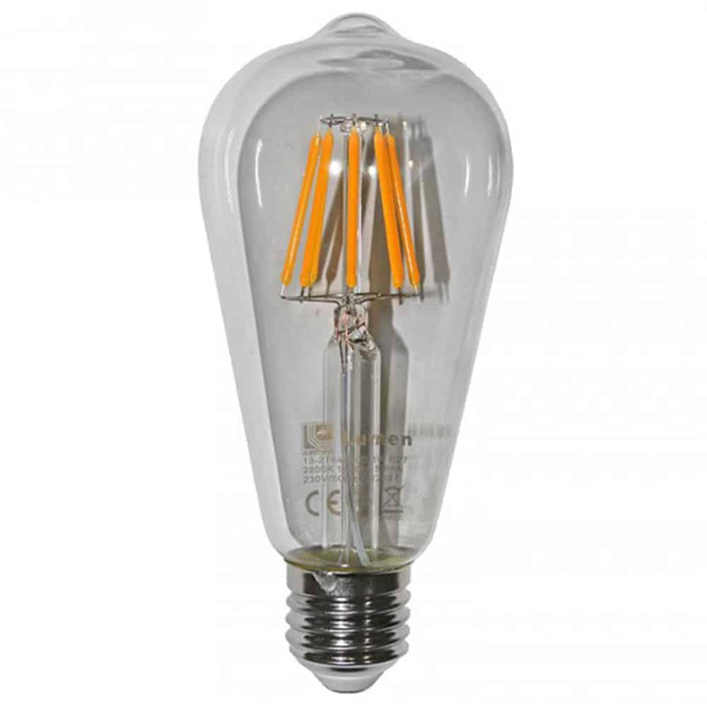 Bec LED Lumen E27, avocado, 8W, 2200K
