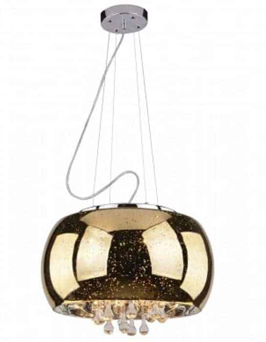 Pendul cristal AZzardo Astral, 5xG9, auriu