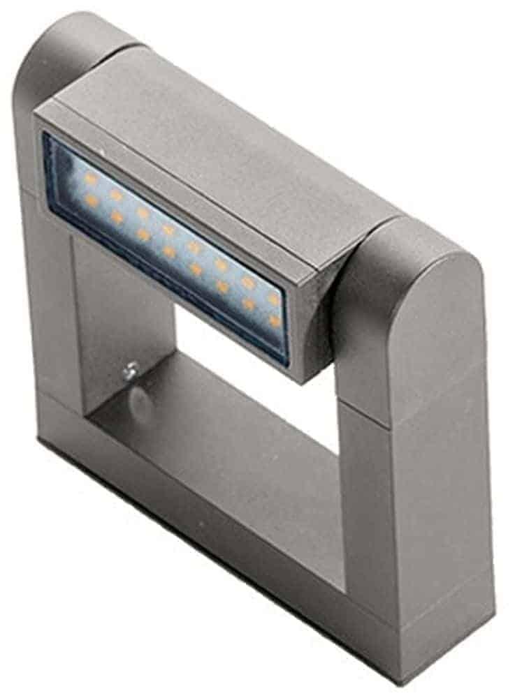 Aplica LED AZzardo Frame wall, 8W, gri