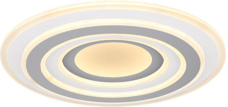 Plafoniera LED Globo Lighting Sabatino, 46W, alb-gri, dimabil, telecomanda