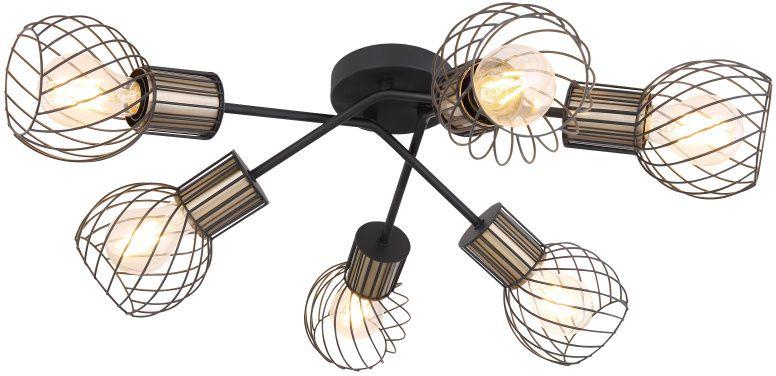 Lustra Globo Lighting Argusto, 6xE27, alama antica-negru