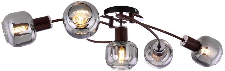 Lustra Globo Lighting Pallo, 5xE14, bronz-fumuriu