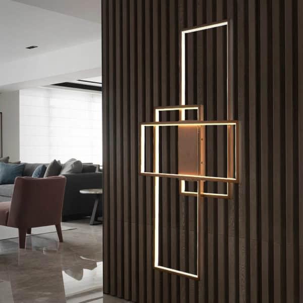 Aplica LED Kelektron Frame, 50W, cafeniu