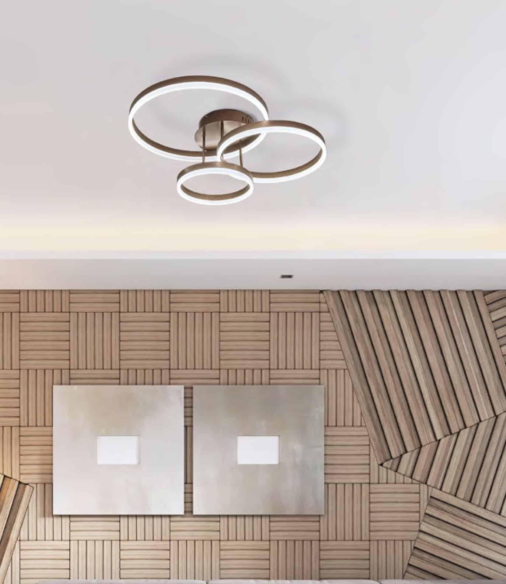 Plafoniera LED Kelektron Hoop, 80W, cafeniu
