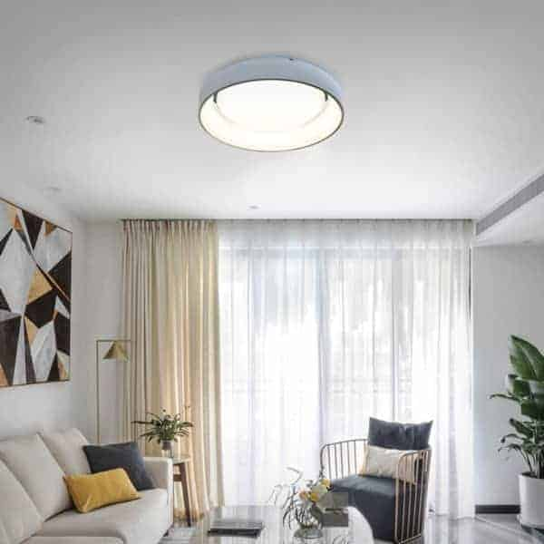 Plafoniera LED Kelektron Plate, 90W, alb, dimabil, telecomanda