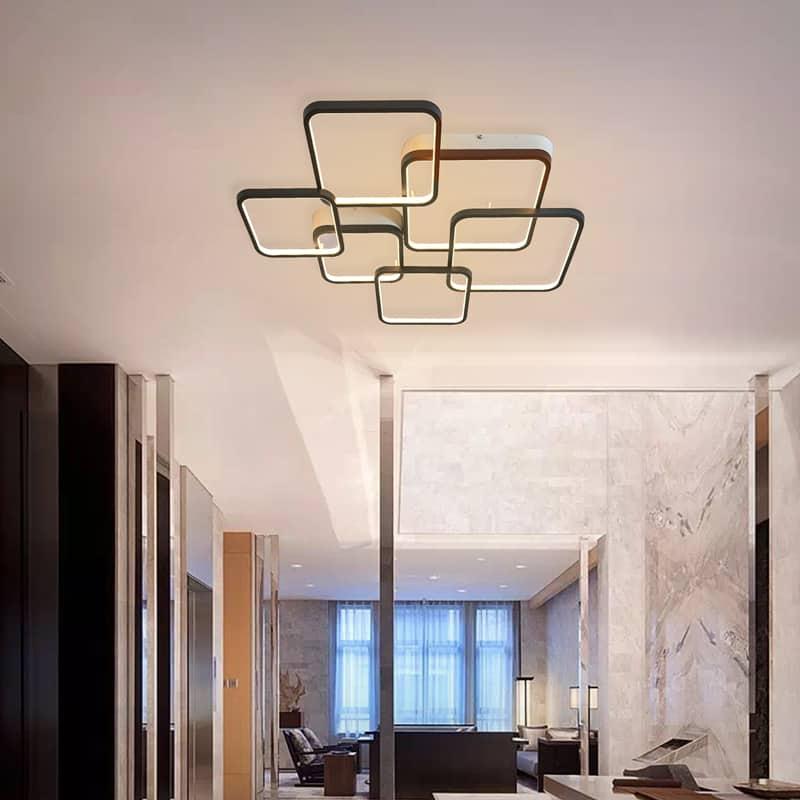Plafoniera LED Kelektron Frame, 110W, alb-negru
