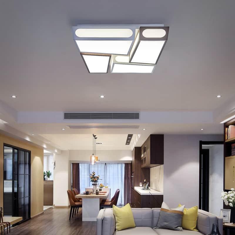 Plafoniera LED Kelektron Zen, 120W, alb-maro, dimabil, telecomanda