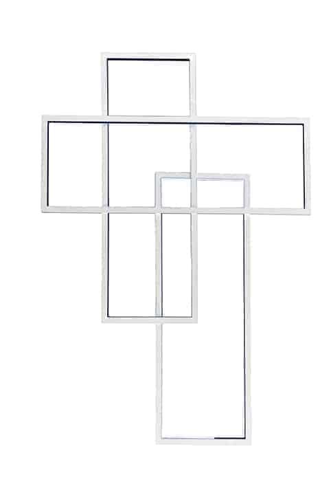 Aplica LED AZzardo Quadratus, 80W, alb, dimabil