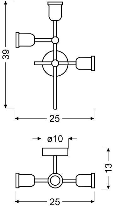 Lustra Candellux Kirimu, 3xE27, cupru-negru