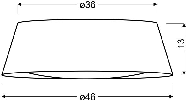 Plafoniera LED Candellux Mola, 16W, alb-maro