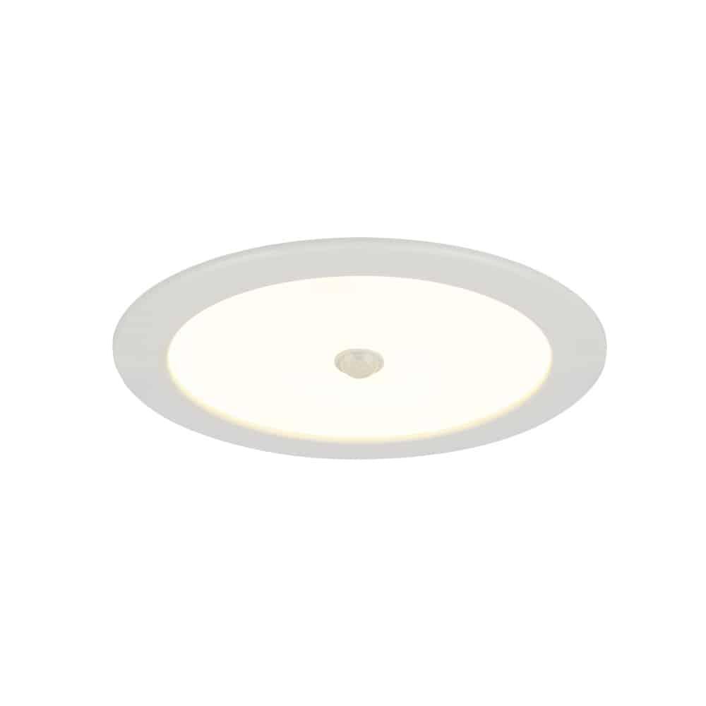 Spot fix cu senzor LED incastrat Globo Lighting Polly, 18W, alb, rotund, IP44