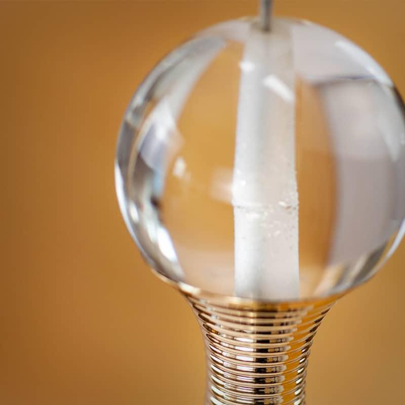Aplica LED Kelektron Drops, 5W, crom-transparent
