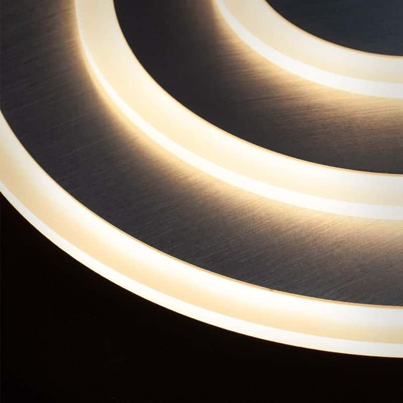Plafoniera LED Kelektron Spyros, 54W, crom, dimabil, telecomanda
