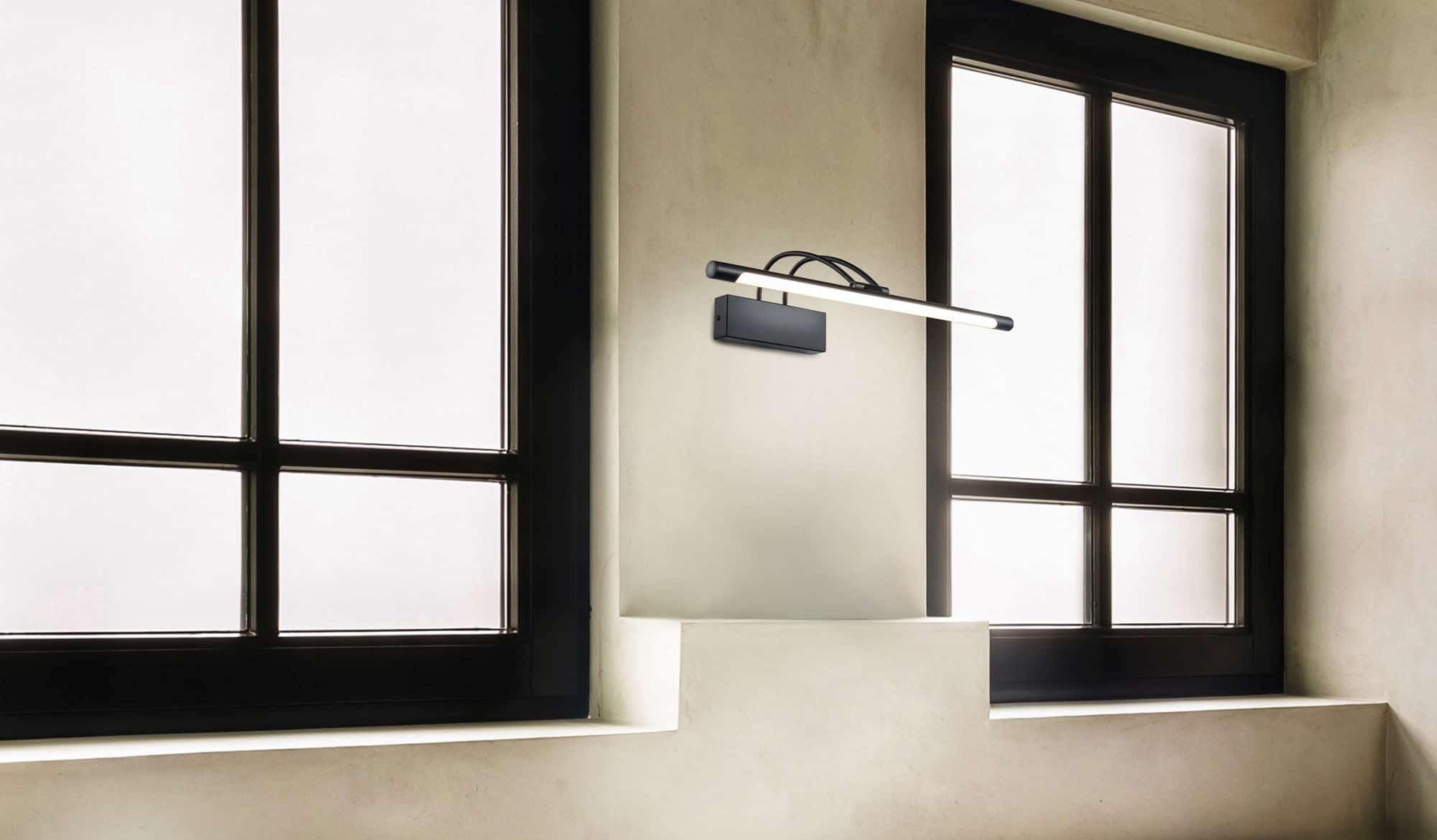 Aplica LED Maytoni Finelli, 12W, alb-negru