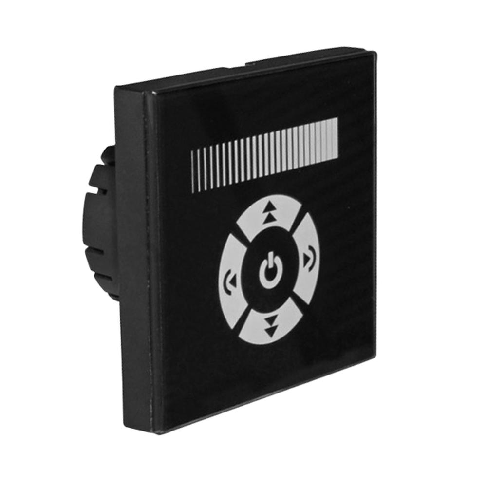 Dimmer TOUCH cu reglaj manual Lumen 8A negru pentru bec LED