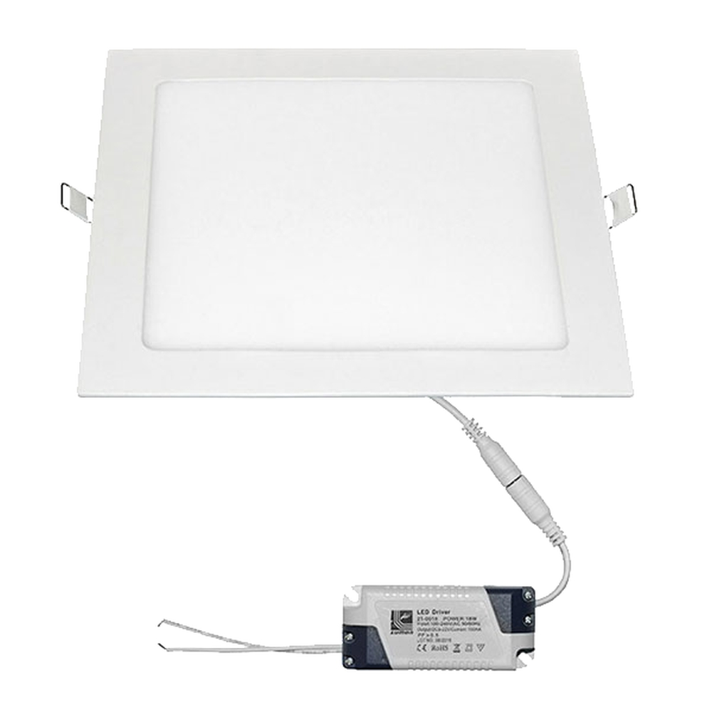 Spot LED incastrat Lumen, 18W, alb, patrat, IP40