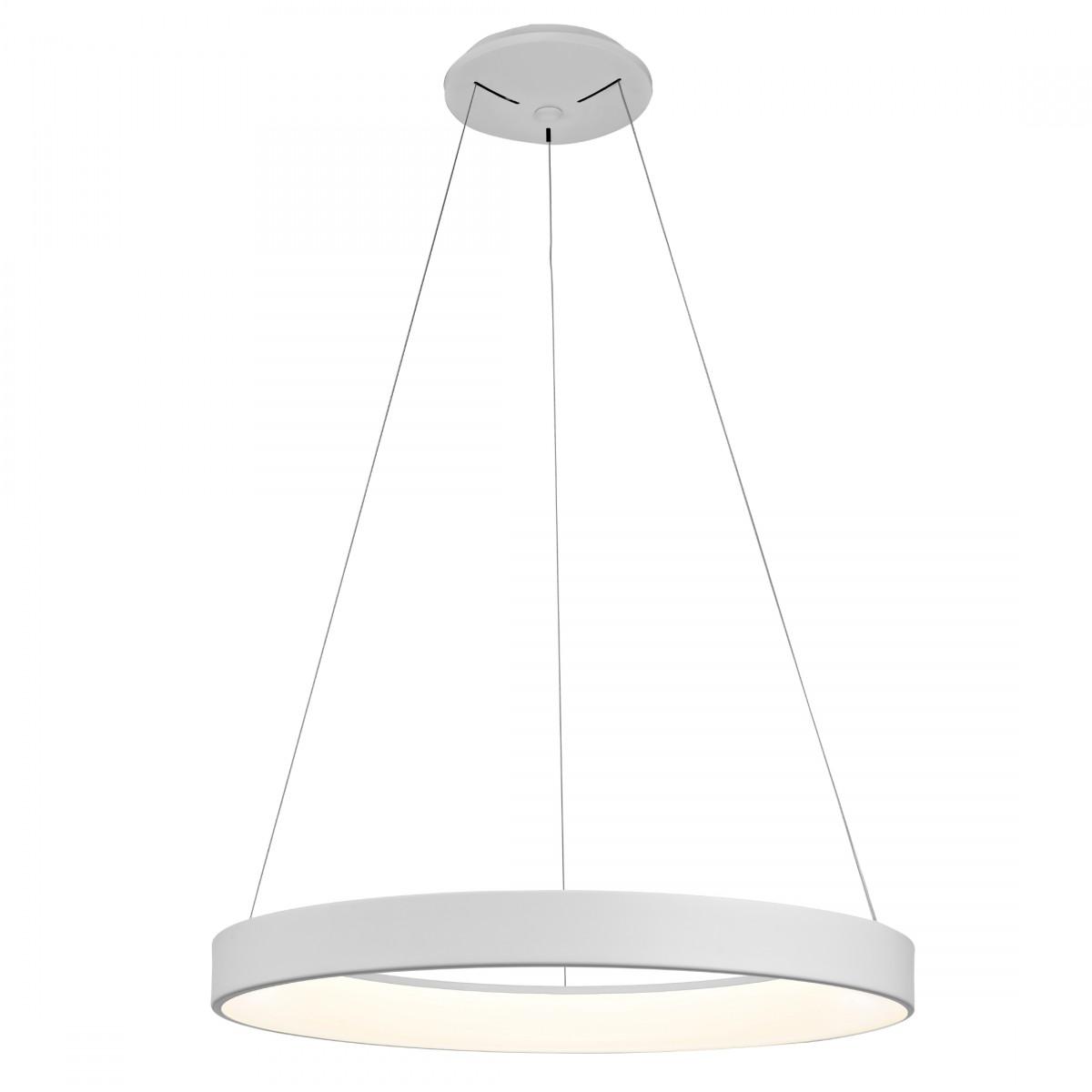 Pendul LED Mantra Niseko, 50W, alb, dimabil