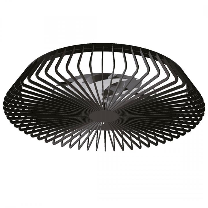 Plafoniera cu ventilator LED Mantra Himalaya, 70W, negru, dimabil, telecomanda, Smart control App
