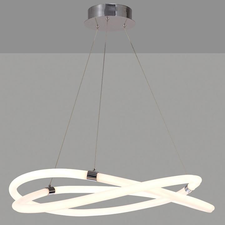 Pendul LED Mantra Infinity Line, 60W, alb-crom