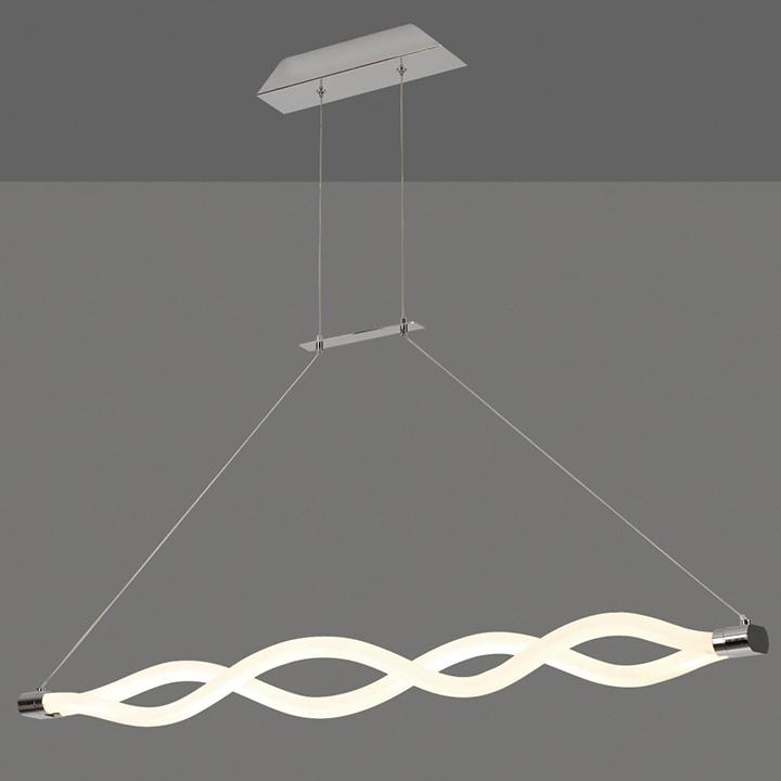 Pendul LED Mantra Sahara Line, 40W, alb-crom