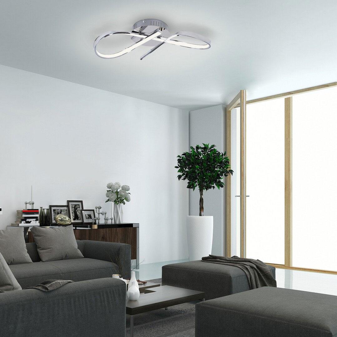 Plafoniera LED Rabalux Aniela, 20W, crom