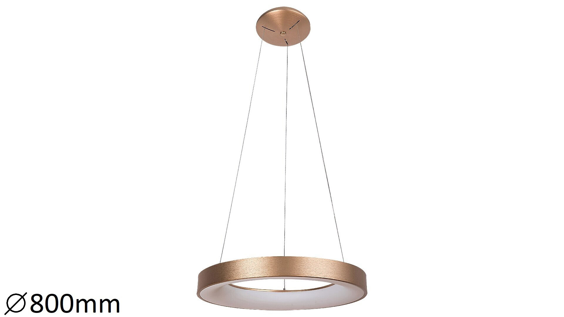 Pendul LED Rabalux Carmella, 80W, alb-auriu