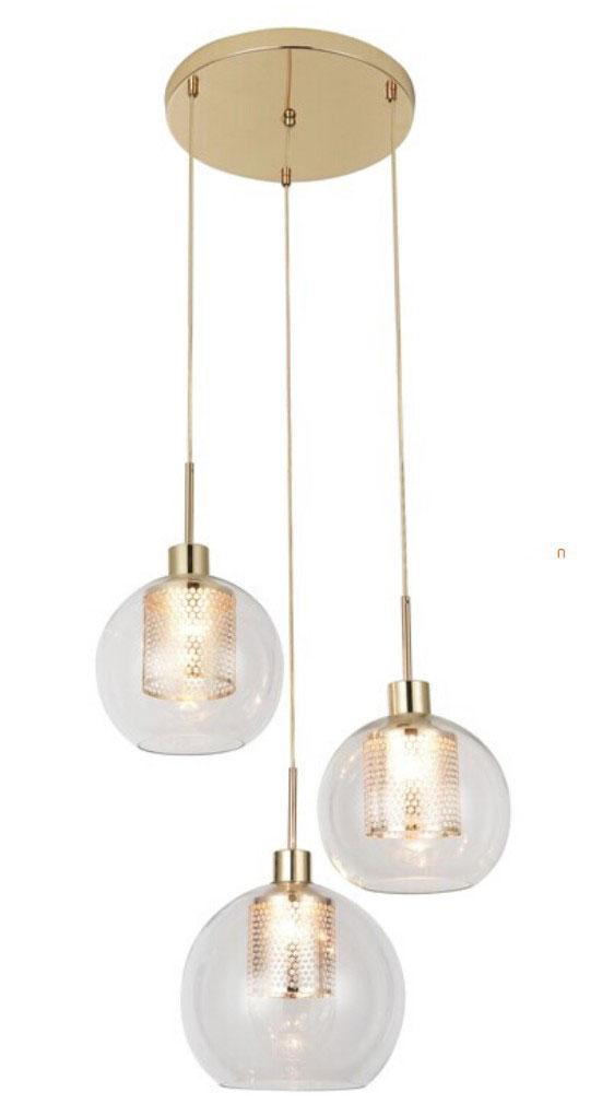Pendul Rabalux Philana, 3xE27, auriu-transparent