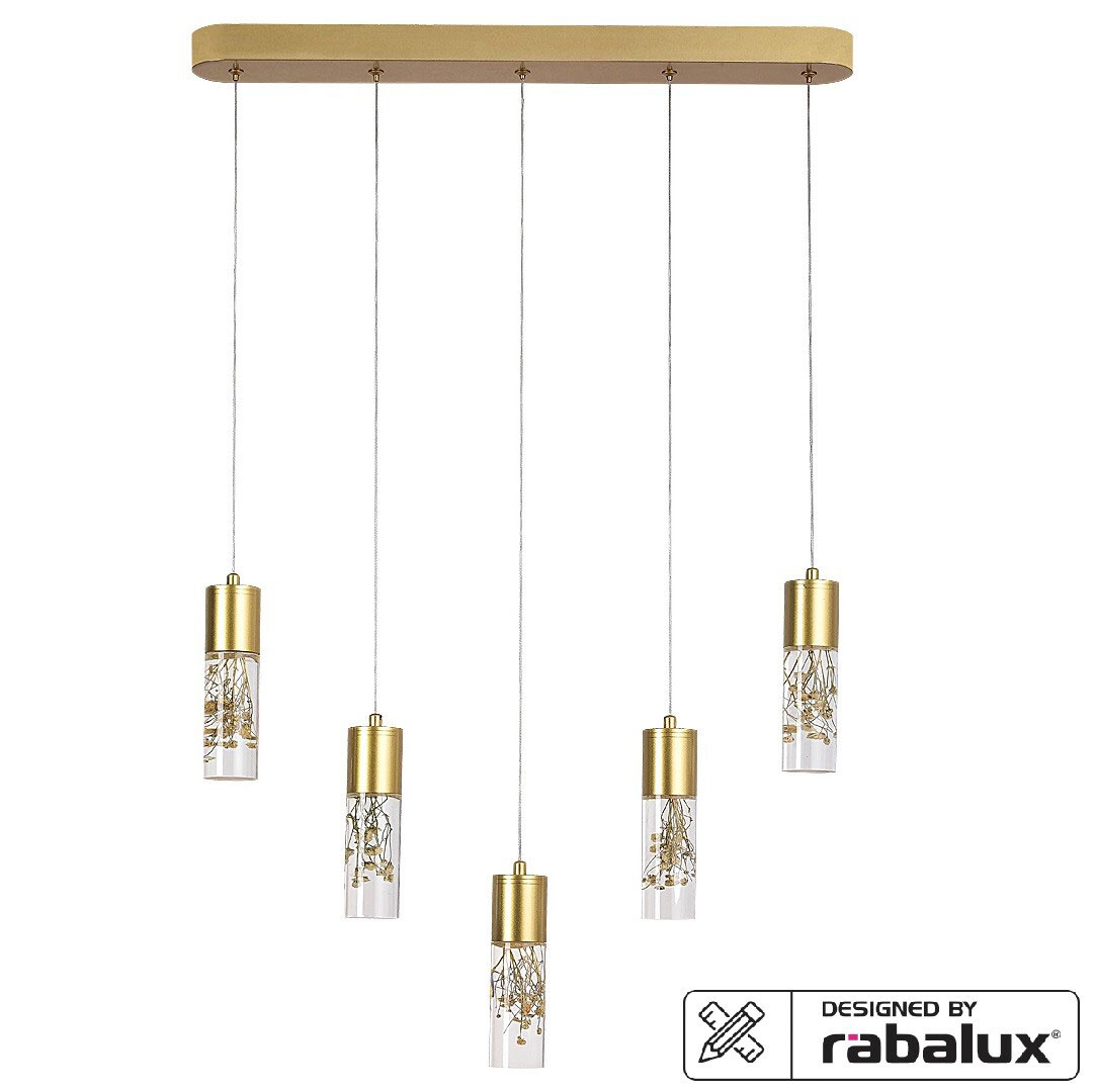 Pendul LED Rabalux Floresta, 20W, auriu