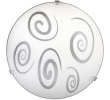 Plafoniera Rabalux Spiral, 1xE27, alb-transparent
