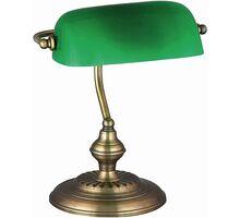 Lampa de birou Rabalux Bank, 1xE27, bronz-verde