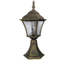 Stalp mic Rabalux Toscana, 1xE27, auriu antic-transparent