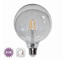 Bec LED Lumen E27, glob 125, 10W, dimabil, 2800K