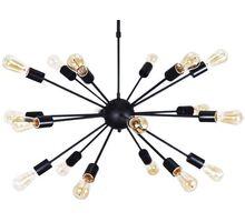 Pendul AZzardo Orbit, 18xE27, negru