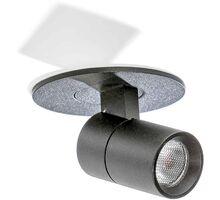 Spot mobil LED incastrat AZzardo Lina, 2W, negru, rotund, IP20