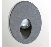 Spot fix LED aplicat AZzardo Sarona IP54, 3W, gri, rotund, IP54