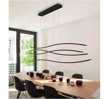 Pendul LED AZzardo Waves, 70W, negru, dimabil