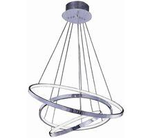 Pendul LED AZzardo Wheel, 80W, crom, dimabil