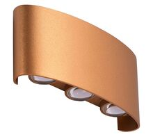 Aplica LED AZzardo Ginna 3, 6W, auriu