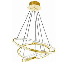 Pendul LED AZzardo Wheel, 80W, auriu, dimabil