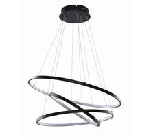 Pendul LED AZzardo Wheel, 80W, negru, dimabil