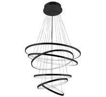 Pendul LED AZzardo Wheel, 140W, negru, dimabil