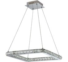 Pendul cristal LED Candellux Lords, 24W, crom-transparent