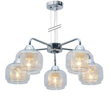 Lustra Candellux Ray, 5xE14, crom-transparent