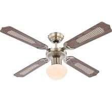 Plafoniera cu ventilator Globo Lighting Champion, 1xE27, alama-alb opal-maro