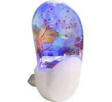 Lampa de veghe LED Globo Lighting Enio, 0.21W, alb-transparent, senzor crepuscular