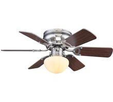 Plafoniera cu ventilator Globo Lighting Ugo, 1xE27, alb-nichel